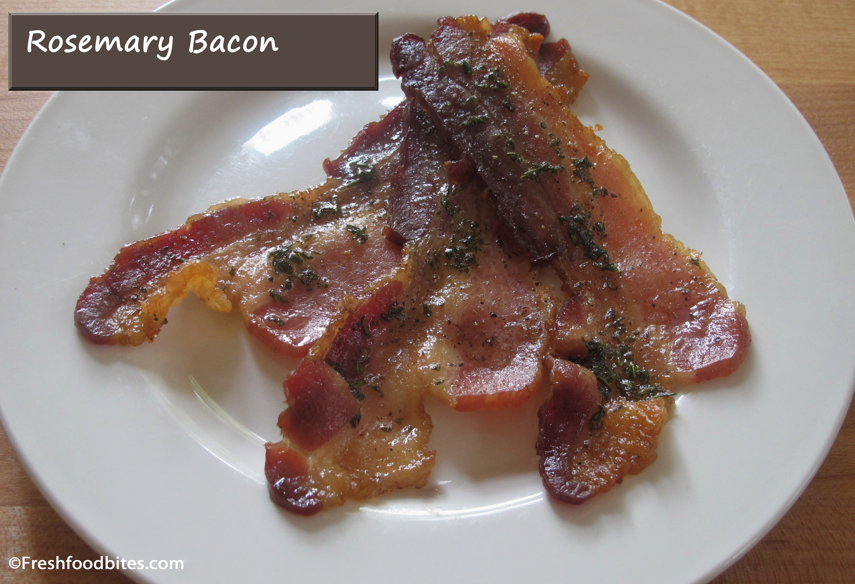 Take bacon to the next level by turning it into Rosemary Bacon. It's quick, easy, and your taste buds will thank you!