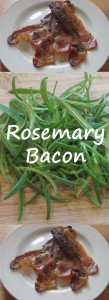 Bacon stands on its own very well, however, if you want to make the bacon for your next weekend brunch extra special, try this Rosemary Bacon. The fresh rosemary compliments the bacon so well and adds a unique touch. By the way, this Rosemary Bacon is quick enough to make during the week too!
