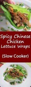 For a healthy take on standard Chinese fare, try these Spicy Chicken Chinese Lettuce Wraps. They are finger-licking good and you can adjust the heat level by increasing or decreasing the crushed red pepper. The best part is that the chicken cooks in the slow cooker, making your life even easier!