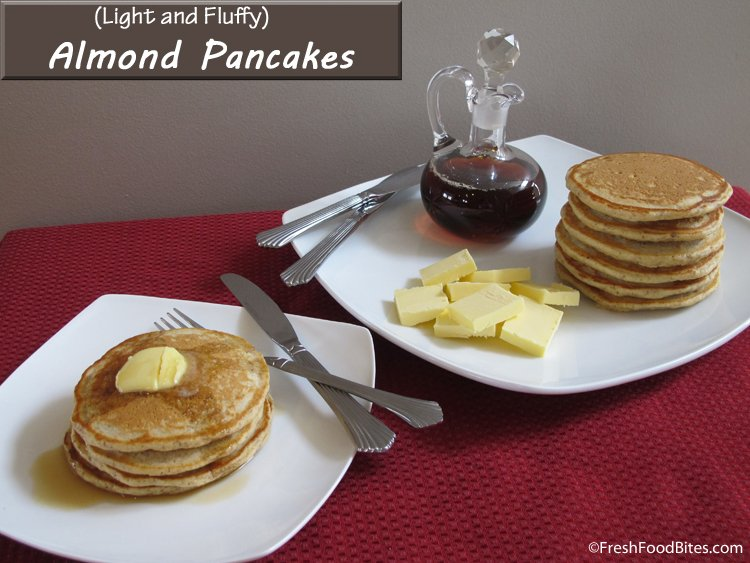 Almond Pancakes (Kid-Friendly, Healthy Breakfast!)