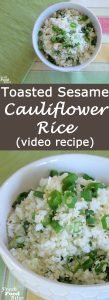 This Toasted Sesame Cauliflower Rice takes so little time to prepare and tastes great as a base for stir-fry or a side dish for your favorite grilled meat. It's quick, easy, and only has 3 ingredients besides salt and pepper. What more could you ask for in a healthy, simple side dish that still packs a flavor punch?
