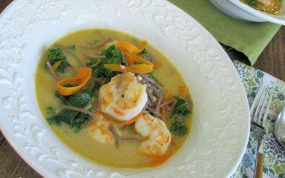 Coconut-Ginger Shrimp Soba Noodle Bowls