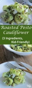 If you love cauliflower and pesto separately, then you'll most definitely love them together in this Roasted Pesto Cauliflower. It's so easy, and uses 3 simple ingredients, which makes it a winner in the race to get a healthy dinner on the table more quickly. This recipe is family-friendly and full of flavor, with a good dose of nutrition to boot.