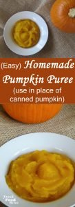 While canned pumpkin puree is convenient, making homemade pumpkin puree couldn't be easier. Use it in any recipe you would use canned pumpkin puree for. Your favorite pumpkin bars, pumpkin pie, pumpkin scones, or pumpkin soup will taste great and work just as well using homemade pumpkin puree.