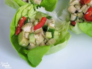 This simple, healthy No Mayo Avocado Chicken Salad uses a lemon-garlic vinaigrette instead of mayonnaise and gets its creamy texture from avocado. It's so fresh and flavorful and, trust me, you won't feel deprived or hungry after eating these chicken salad wraps. This is one chicken salad you will feel good about eating.