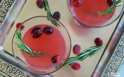 Rosemary Infused Grapefruit-Cranberry Martini
