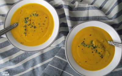 5 Ingredient Butternut Squash-Celery Root Soup