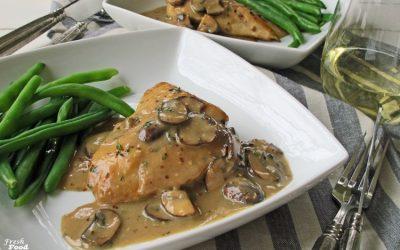 Chicken with Mushroom-Garlic Cream Sauce (Dairy Free, One Pan)