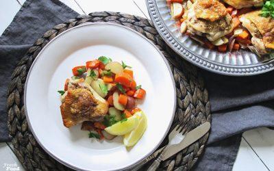 Garlic-Mustard Chicken and Vegetables Sheet Pan Dinner