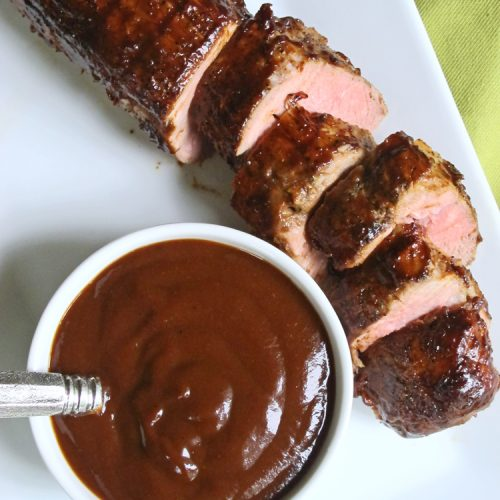 This Tangy Rhubarb Barbecue Sauce is a great way to use rhubarb in a way that isn't dessert! Brush it on your favorite grilled meats at the end of the grilling time, or use it as a condiment for all your summer barbecues.