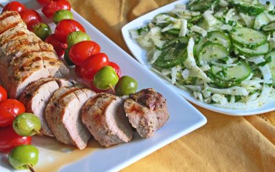 Grilled Pork Tenderloin with Marinated Cucumber-Fennel Salad