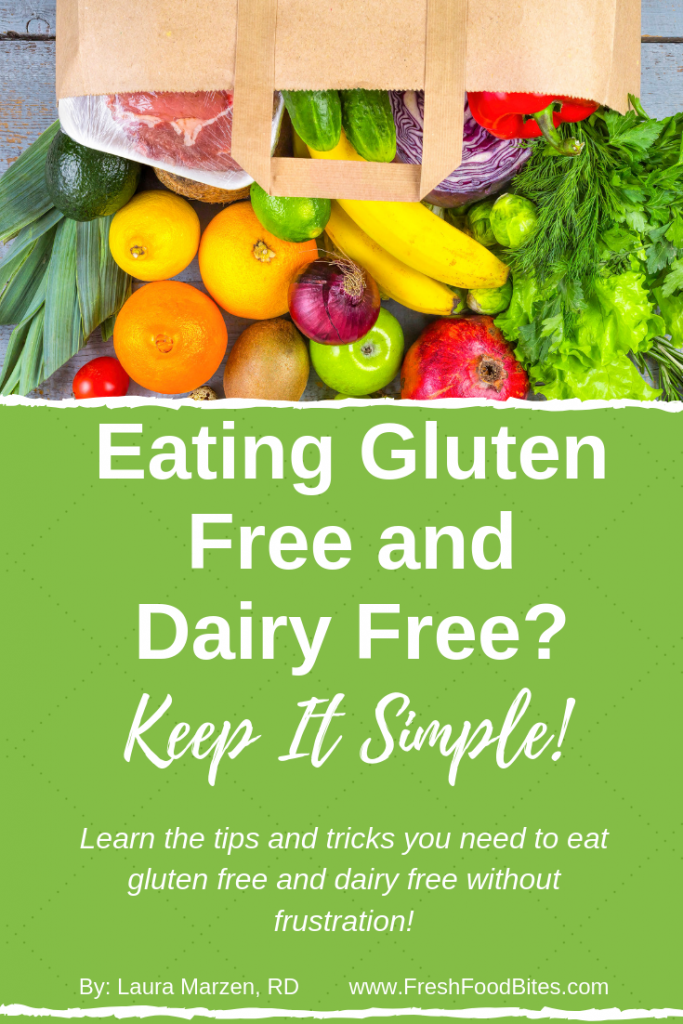 Eating Gluten Free and Dairy Free? Keep It Simple! gives you tips and tricks for eating gluten free and dairy free without frustration! Learn the top 4 frustrations people can have when eating gluten free and dairy free as well as solutions to these frustrations so you can stay on track and start seeing positive results sooner than later! Eating gluten free and dairy free doesn't have to be hard as long as you learn a few tricks and tips first!