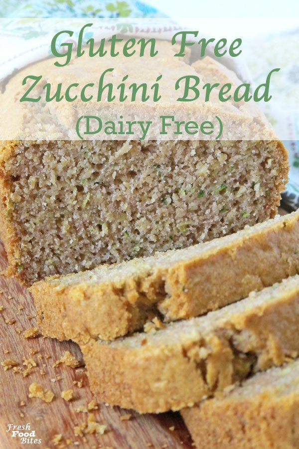 Classic zucchini bread is so hard to beat, and this easy, healthy Gluten Free Zucchini Bread recipe, which is also dairy free, is no different. Since this gluten free version has less sugar than typical zucchini bread, and uses pure maple syrup rather than refined white sugar, it's healthier too! It's sure to become a family favorite soon!