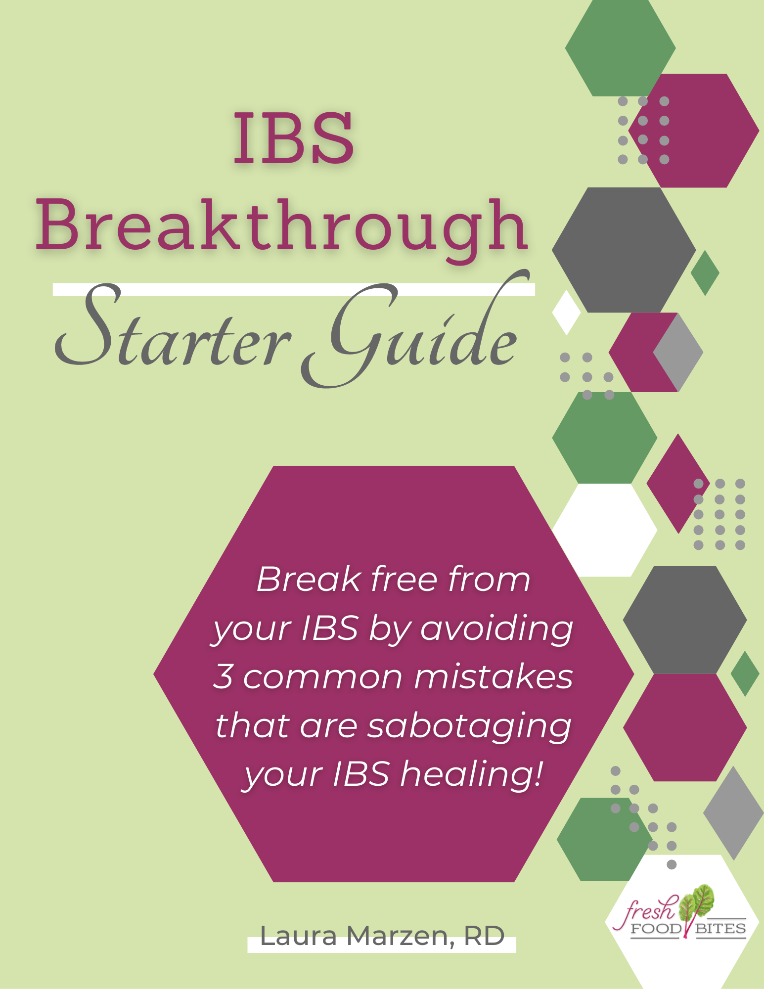 Discover the 3 common mistakes that are holding you back from getting lasting relief from your IBS with this IBS Breakthrough Starter Guide.